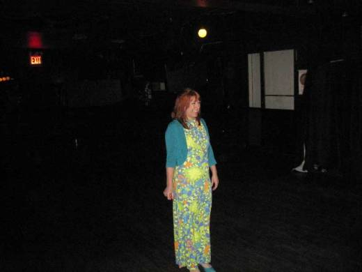 Lady Dawn surveys the empty Coco 66 while preparing the club for a New Year's Eve party.