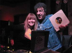 Miriam Linna and Billy Miller swing at the Mighty Hannibal Memorial Record Spin.