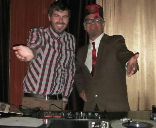 "Nogood Nick and Phast Phreddie the Boogaloo Omnibus swing at the DYNAGROOVE!  (photo by Nancy ""Jeannie"" Gardner)"