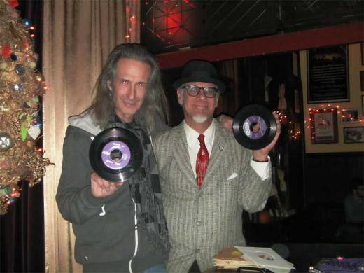 "Lenny Kaye and Phast Phreddie the Boogaloo Omnibus swing at the Doo Wop Hop. Photo by Nancy ""Jeannie"" Garnder."