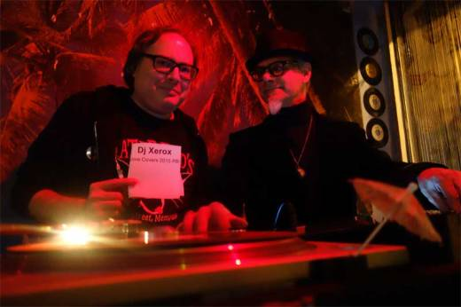 DJ Xerox and Phast Phreddie the Boogaloo Omnibus swing at the Copycat Cover Song Night tribute to Arthur Lee and Love