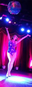 Go-Go dancer Bettina May swings at Surf City!