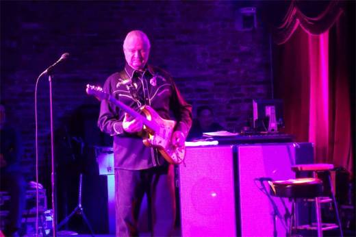 Dick Dale, the King of the Surf Guitar, displays incendiary riffs at the Brooklyn Bowl.