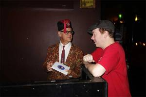 Phast Phreddie the Boogaloo Omnibus and Todd-O-Phonic Todd discuss the finer points of a Del Shannon record at WHAM-O WATUSI!