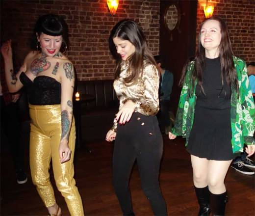 Three cool chicks swing at Wham-O Watusi!
