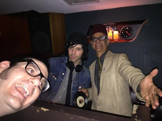 Our pal Brandon Pierce Peck goofs as Elevator Operator and Phast Phreddie the Boogaloo Omnibus swing at Hi-Fi:In Focus.