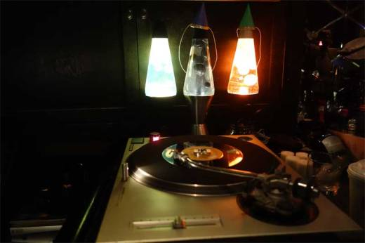 The elegantly appointed Robert Bar features a trio of lava lamps next to the turntables in order to remind the DJs to play groovy music.
