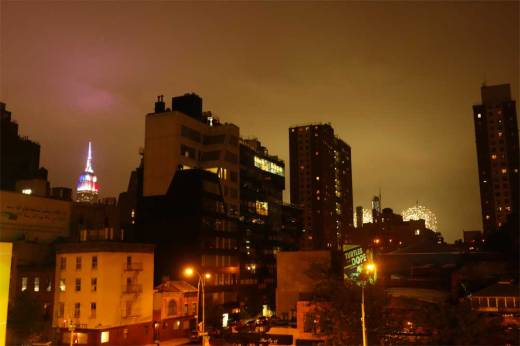 The Fourth of July, as seen from the High Line Park.