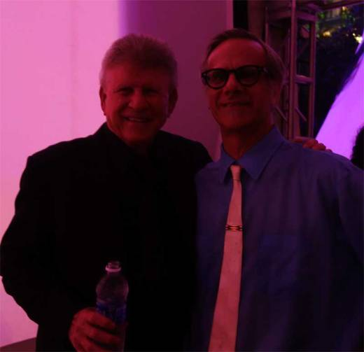 Bobby Rydell and Phast Phreddie the Boogaloo Omnibus greet after Bobby's performance at Midsummer Night Swing!