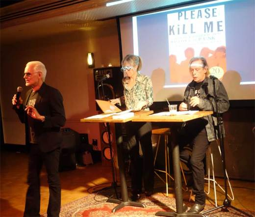 Michael Des Bares introduced Gillian McCain and Legs McNeil at the Please Kill Me - 20th Anniversary Tour event.