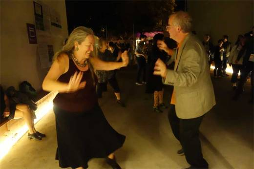 Internet Archive founder Brewster Kahle and his wife Mary Austin do the Boogaloo at the Internet Archive 20th Anniversary Party!