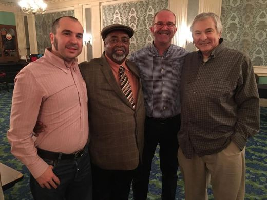 Julio Apollo XII, Howard Washington of The Trenells, David Raistrick and Dennis Brennan of The Intentions swing at the Keystone State Soul Weekender.