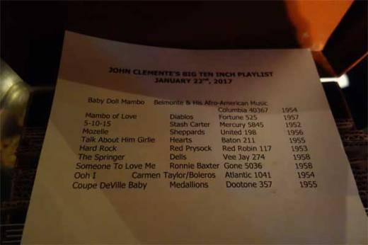 John Clemente's list.